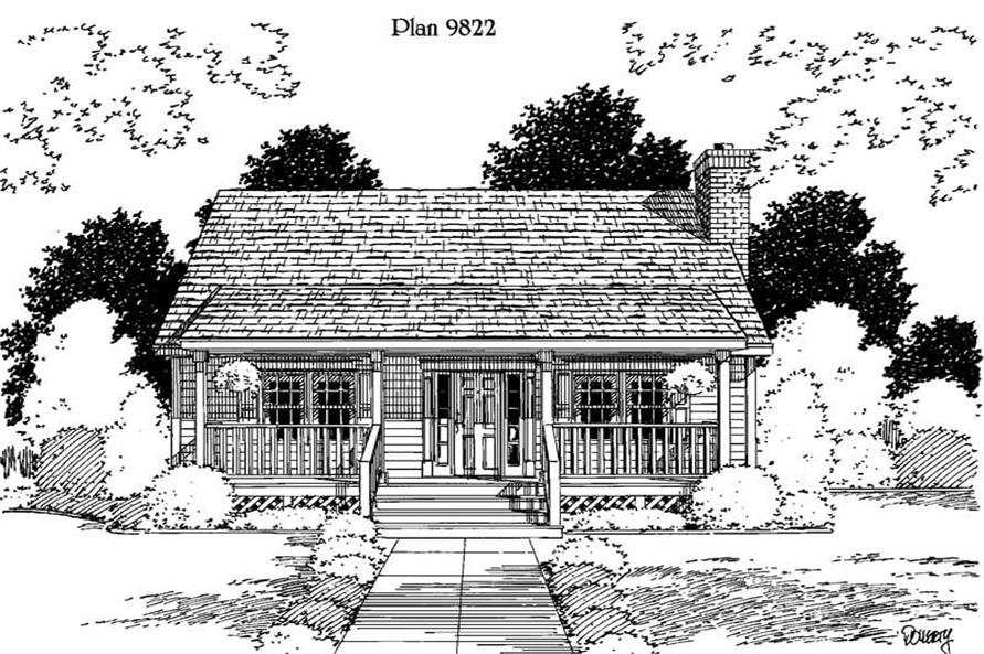 3-Bedroom, 1433 Sq Ft Small House Plans - 121-1006 - Main Exterior