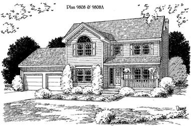 3-Bedroom, 2016 Sq Ft Traditional Home Plan - 121-1007 - Main Exterior