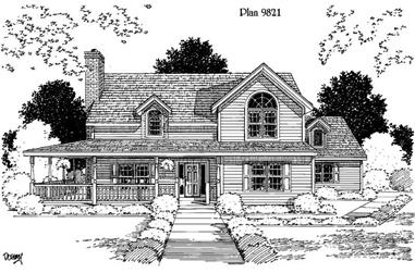4-Bedroom, 2418 Sq Ft Home Plan - 121-1008 - Main Exterior