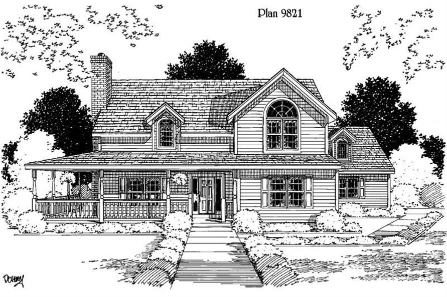Main image for house plan # 3884