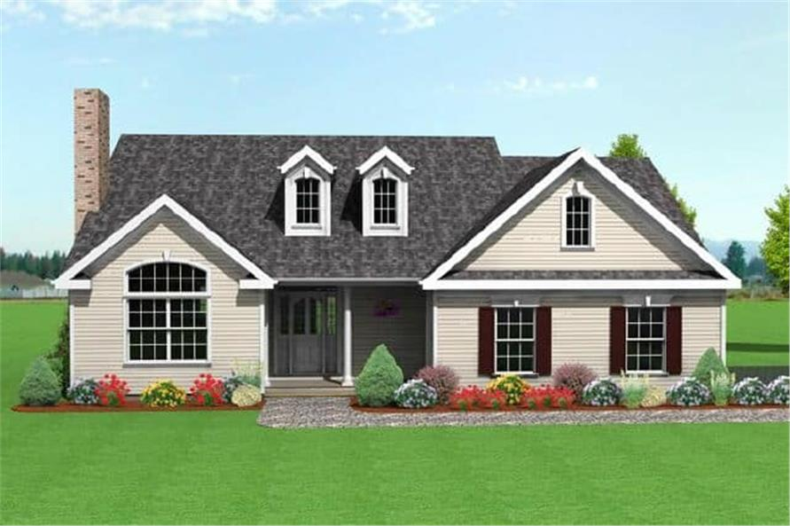 3-Bedroom, 1728 Sq Ft Country Home Plan - 121-1010 - Main Exterior