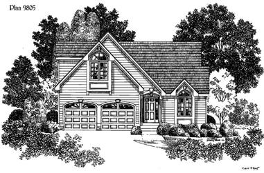 3-Bedroom, 1459 Sq Ft Small House Plans - 121-1011 - Main Exterior