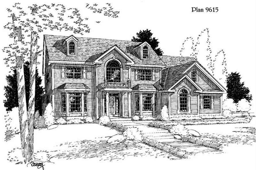 4-Bedroom, 2920 Sq Ft Country House Plan - 121-1013 - Front Exterior