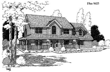 3-Bedroom, 2207 Sq Ft House Plan - 121-1014 - Front Exterior
