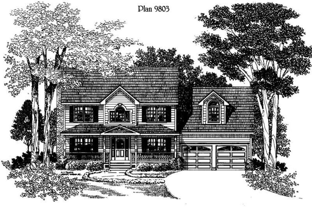 Traditional home (ThePlanCollection: Plan #121-1015)