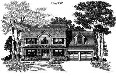 3-Bedroom, 1875 Sq Ft Home Plan - 121-1015 - Main Exterior