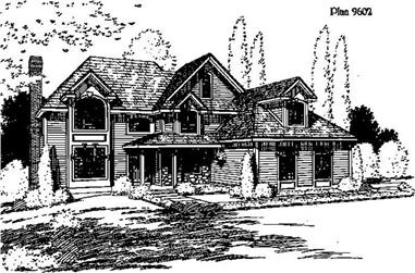 3-Bedroom, 3030 Sq Ft House Plan - 121-1016 - Front Exterior