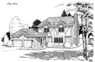 3-Bedroom, 1611 Sq Ft Country House Plan - 121-1017 - Front Exterior