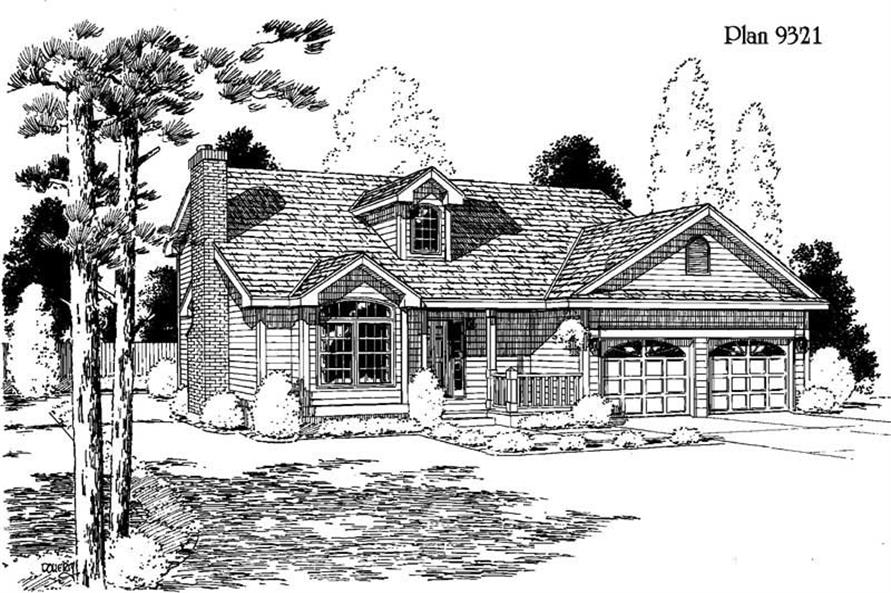 3-Bedroom, 1703 Sq Ft Country House Plan - 121-1019 - Front Exterior