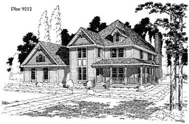 3-Bedroom, 2357 Sq Ft Home Plan - 121-1020 - Main Exterior