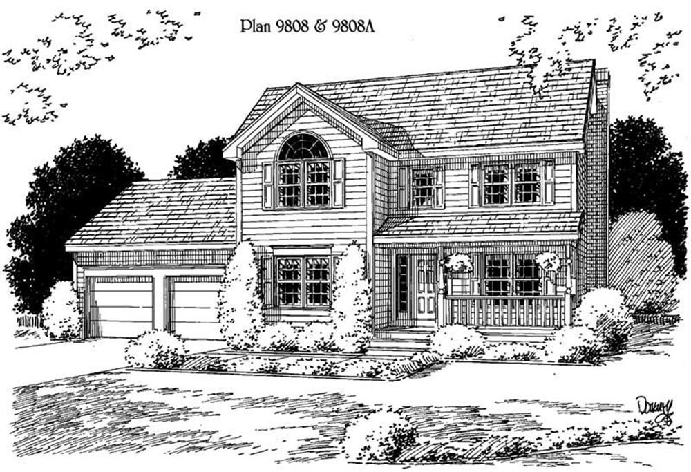 Traditional home (ThePlanCollection: Plan #121-1021)