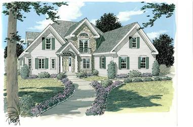 3-Bedroom, 2302 Sq Ft Home Plan - 121-1022 - Main Exterior