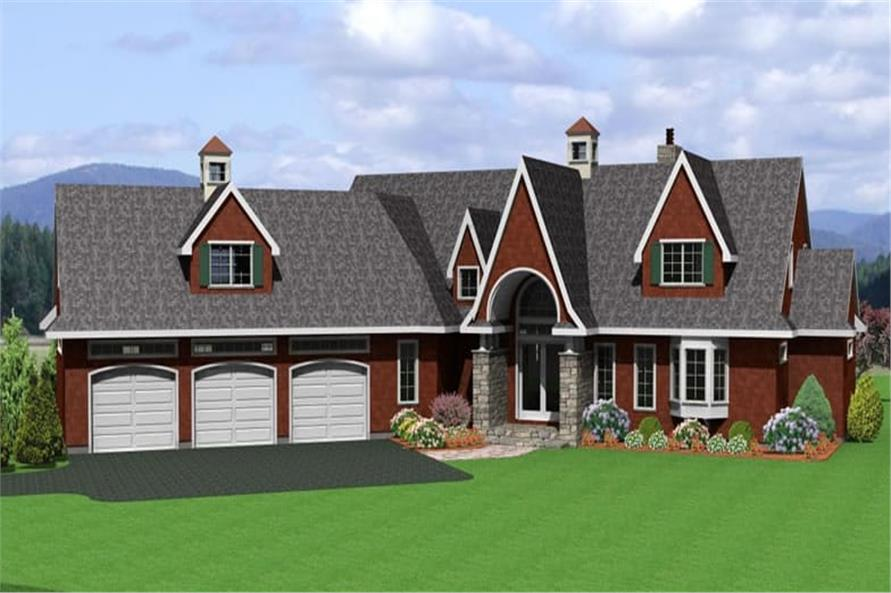 Home Plan Rendering of this 3-Bedroom,2990 Sq Ft Plan -121-1023