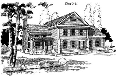 3-Bedroom, 2849 Sq Ft Country House Plan - 121-1024 - Front Exterior