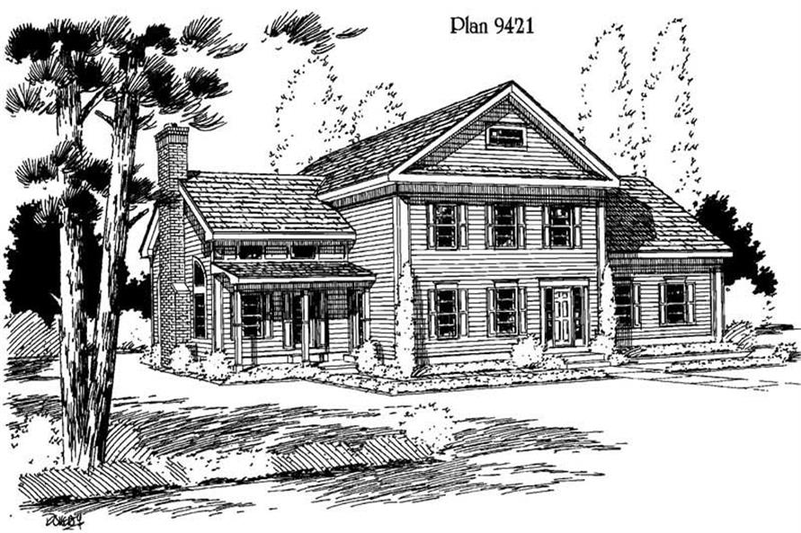 Main image for house plan # 3784