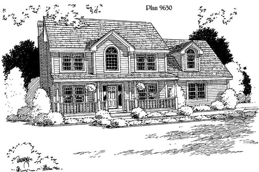 Main image for house plan # 3840