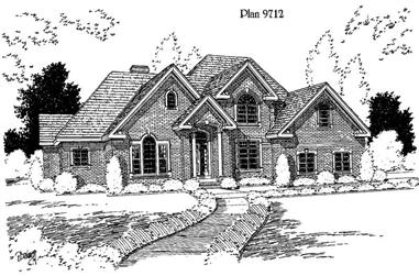 4-Bedroom, 3516 Sq Ft Luxury Home Plan - 121-1027 - Main Exterior