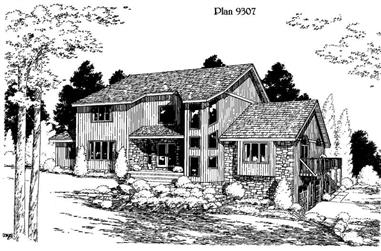 4-Bedroom, 3309 Sq Ft House Plan - 121-1028 - Front Exterior