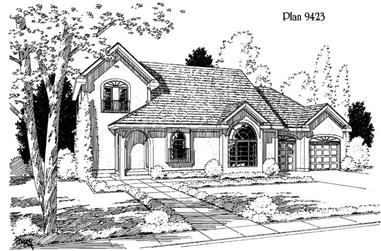 3-Bedroom, 1799 Sq Ft Country House Plan - 121-1029 - Front Exterior