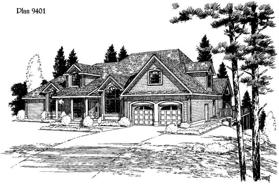 Main image for house plan # 3778