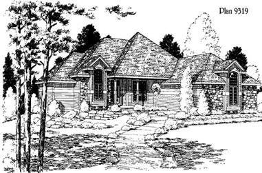 3-Bedroom, 2565 Sq Ft Ranch House Plan - 121-1038 - Front Exterior