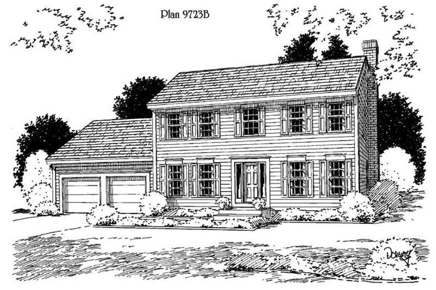 3-Bedroom, 1788 Sq Ft Country Home Plan - 121-1041 - Main Exterior