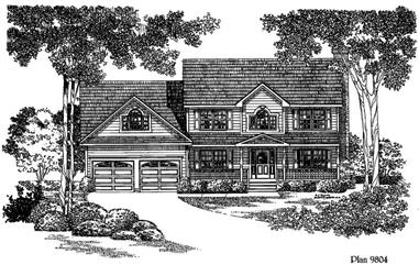 3-Bedroom, 1935 Sq Ft Home Plan - 121-1042 - Main Exterior