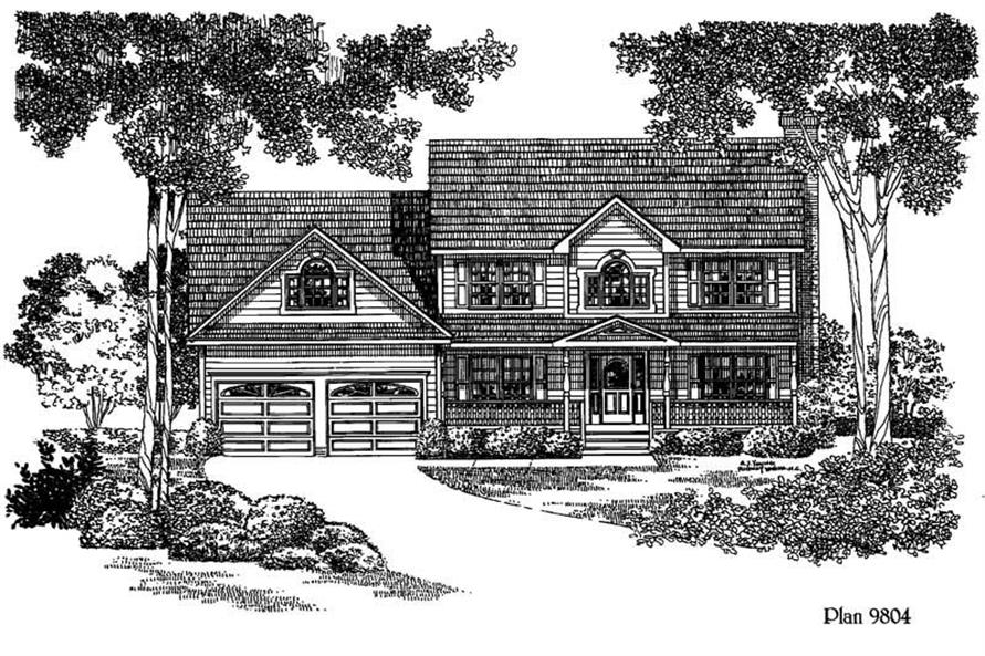 3-Bedroom, 1935 Sq Ft Home Plan - 121-1042 - Main Exterior