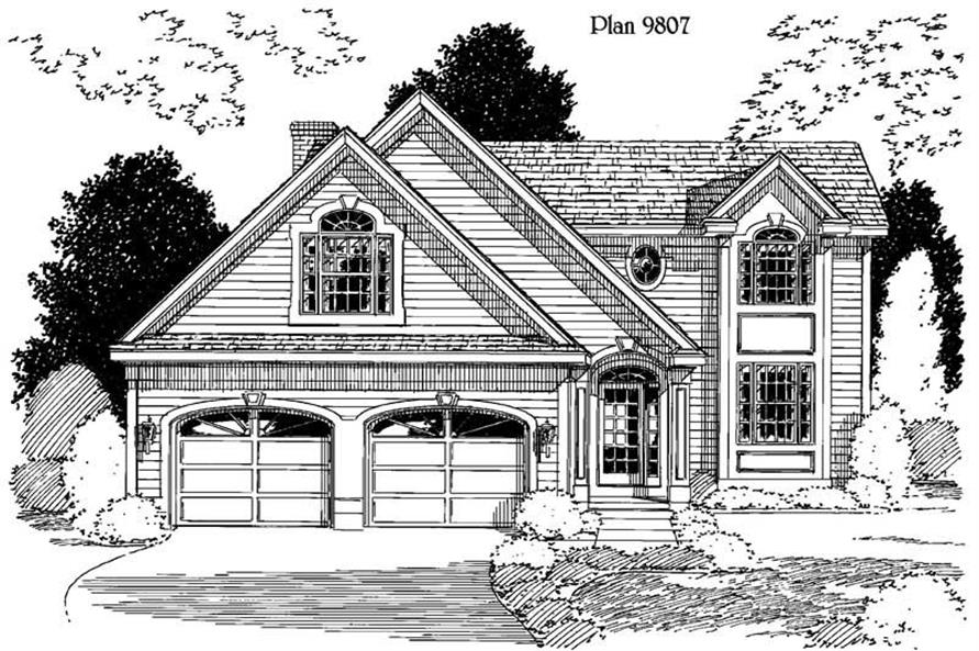 3-Bedroom, 1657 Sq Ft Home Plan - 121-1043 - Main Exterior