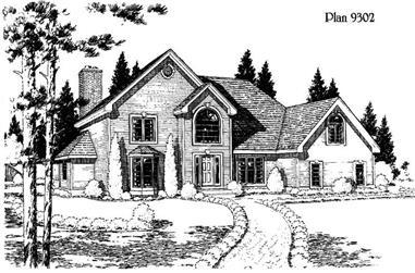 4-Bedroom, 2779 Sq Ft Home Plan - 121-1044 - Main Exterior