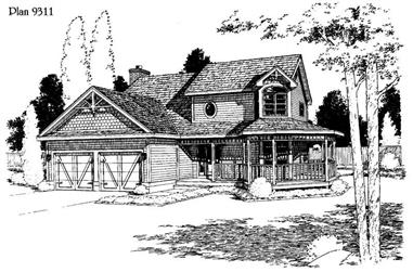 3-Bedroom, 1536 Sq Ft House Plan - 121-1045 - Front Exterior