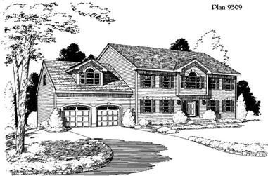 4-Bedroom, 2717 Sq Ft House Plan - 121-1046 - Front Exterior