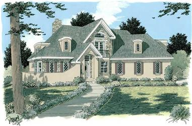 3-Bedroom, 2454 Sq Ft Home Plan - 121-1047 - Main Exterior