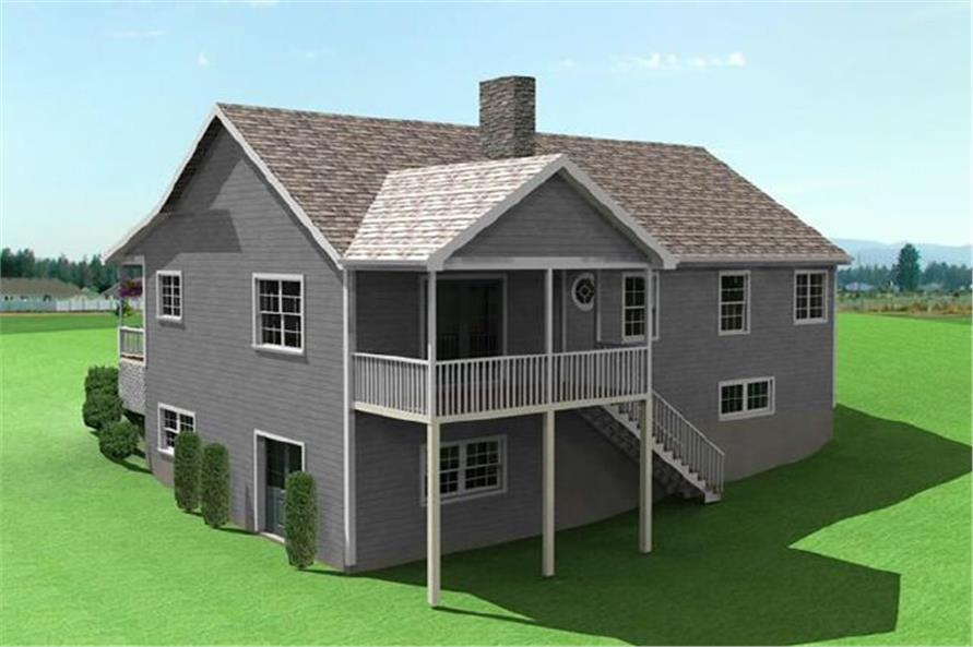 Home Plan Rendering of this 2-Bedroom,1493 Sq Ft Plan -121-1048