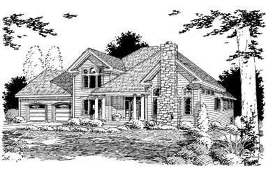 3-Bedroom, 2622 Sq Ft Home Plan - 121-1049 - Main Exterior