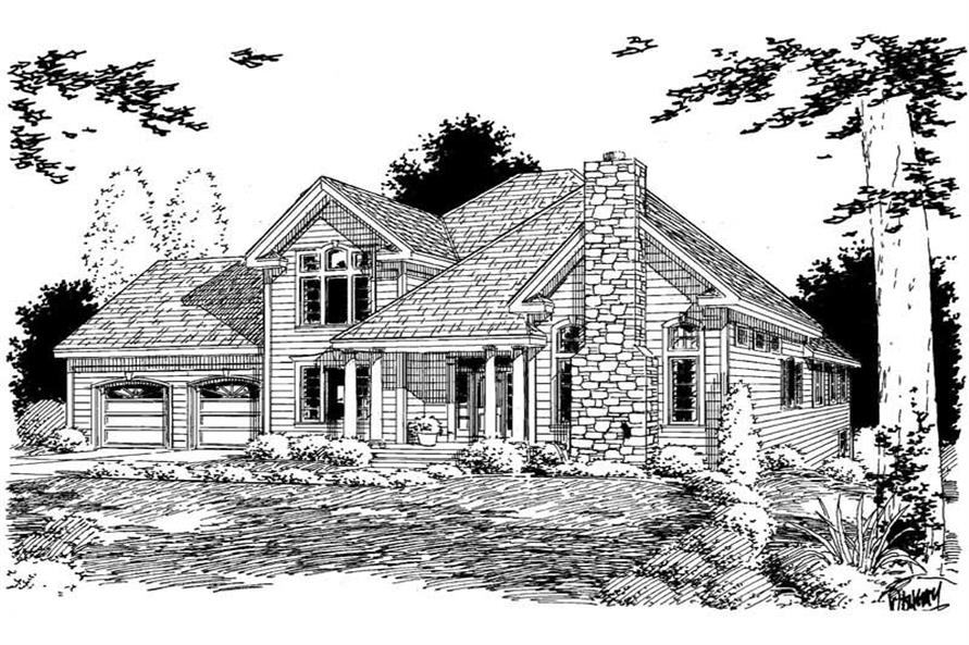 Main image for house plan # 3757