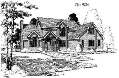 4-Bedroom, 3843 Sq Ft Home Plan - 121-1050 - Main Exterior