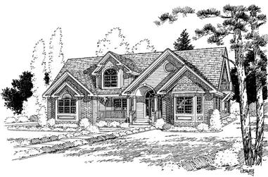 4-Bedroom, 3066 Sq Ft Country Home Plan - 121-1051 - Main Exterior