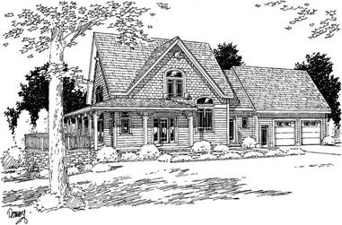 3-Bedroom, 2252 Sq Ft Southern Home Plan - 121-1052 - Main Exterior