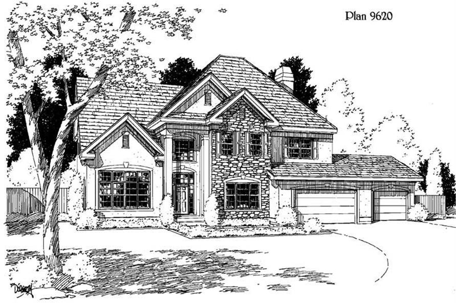 Main image for house plan # 3836