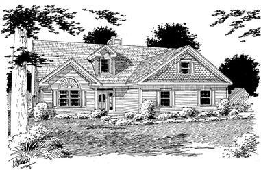 3-Bedroom, 2272 Sq Ft Home Plan - 121-1058 - Main Exterior