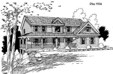 4-Bedroom, 2782 Sq Ft Country House Plan - 121-1062 - Front Exterior