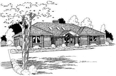 3-Bedroom, 2699 Sq Ft Ranch House Plan - 121-1063 - Front Exterior