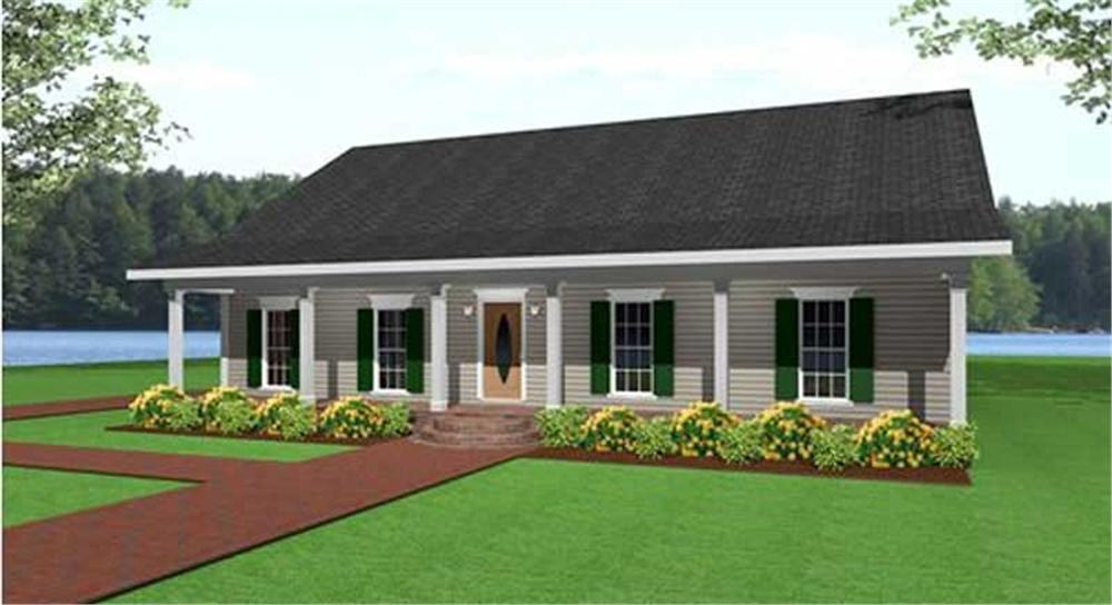 country floor plan - 3 bedrms  2 baths - 1500 sq ft