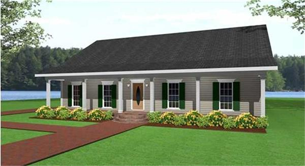 123-1000: Home Plan Rendering