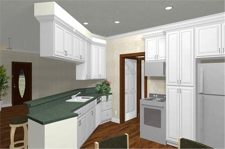 Home Plan 3D Image of this 3-Bedroom,1500 Sq Ft Plan -123-1000
