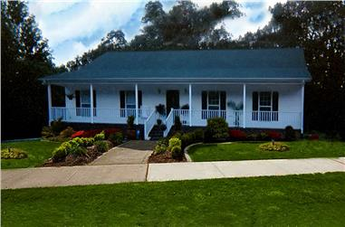 3-Bedroom, 1500 Sq Ft Country Home Plan - 123-1000 - Main Exterior