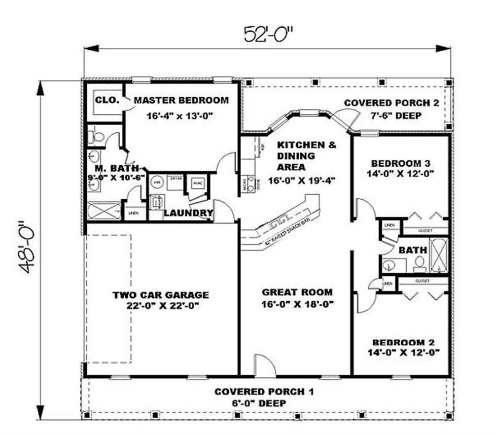 House Plan DP-1498 Main Floor Plan