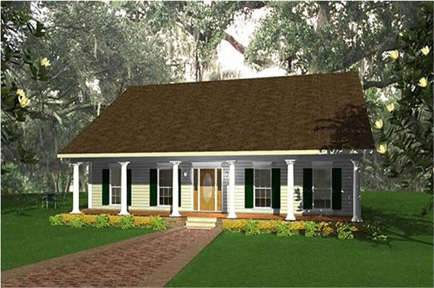 3-Bedroom, 2052 Sq Ft Country Home Plan - 123-1002 - Main Exterior