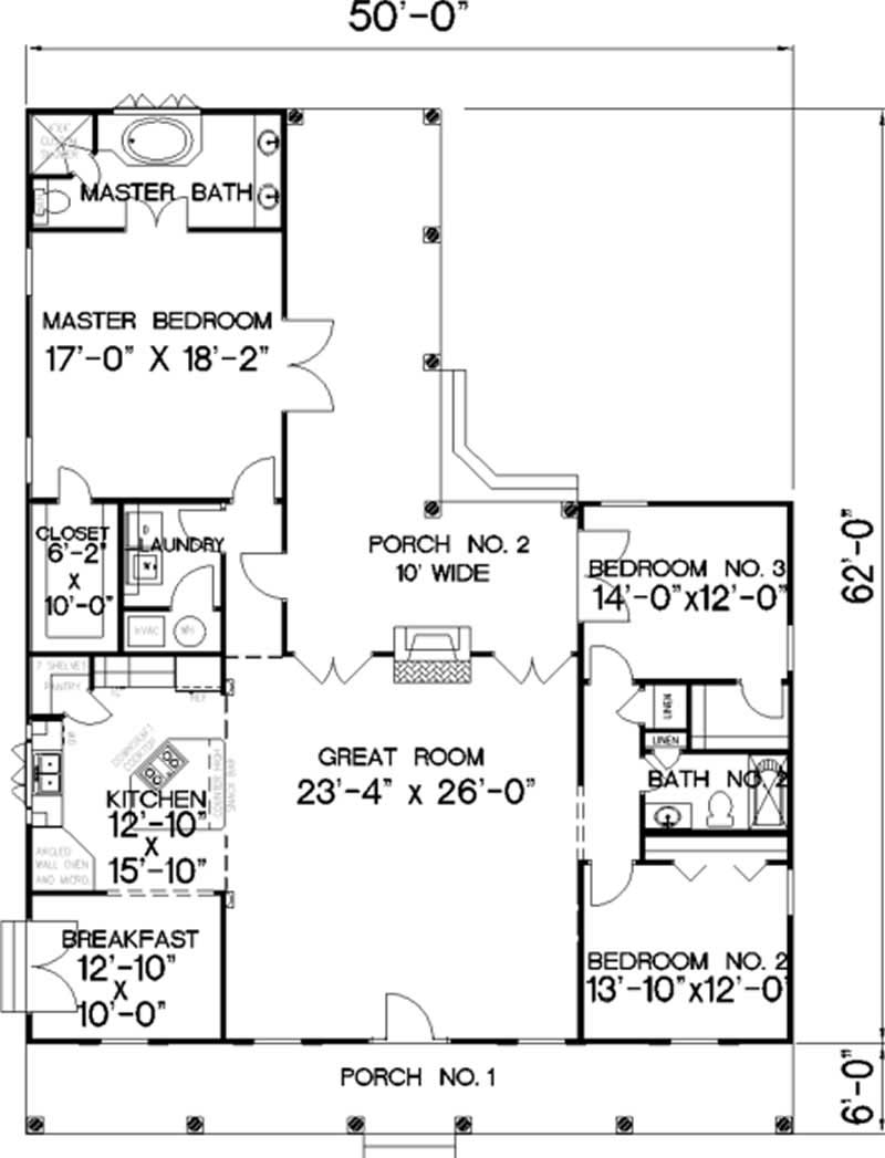 House Plan DP-2053 Main Floor Plan